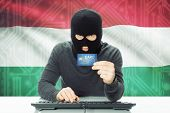 stock photo of cybercrime  - Cybercrime concept with flag on background  - JPG