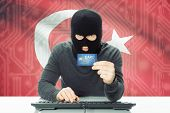 image of cybercrime  - Cybercrime concept with flag on background  - JPG