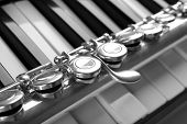 pic of flute  - Flute and piano close up - JPG