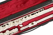 pic of flute  - Flute in case close up - JPG