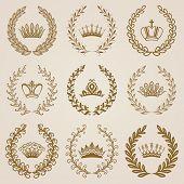image of medal  - Set of luxury gold labels - JPG