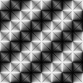 stock photo of quadrangles  - Design seamless square geometric pattern - JPG