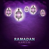 picture of ramadan calligraphy  - traditional lantern of Ramadan - JPG