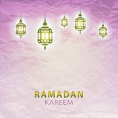 foto of ramadan calligraphy  - traditional lantern of Ramadan - JPG