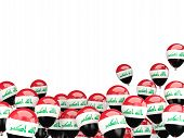stock photo of iraq  - Flying balloons with flag of iraq isolated on white - JPG