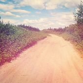 pic of dirt road  - Old Dirt road with Instagram effect - JPG