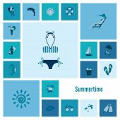 image of sailfish  - Summer and Beach Simple Flat Icons - JPG