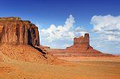 stock photo of unique landscape  - The unique landscape of Monument Valley Utah USA - JPG