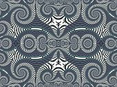 stock photo of symmetrical  - Symmetrical Textured Background with Spirals - JPG