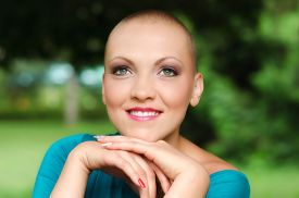 picture of chemotherapy  - Happy and young cancer survivor after successful chemotherapy - JPG