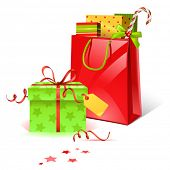 picture of christmas-present  - vector christmas presents - JPG