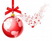 picture of christmas song  - vector christmas carols background - JPG