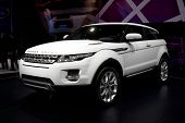 PARIS, FRANCE - SEPTEMBER 30: Paris Motor Show on September 30, 2010, showing Range Rover Evoque, fr