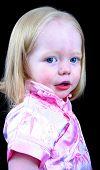 Cute Little Girl Looking Over Her Sholder poster