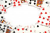 pic of playing card  - poker game concept with cards and copyspace for text message - JPG