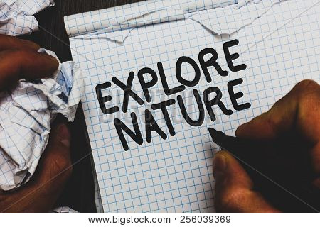 Writing Explore Nture Text Made