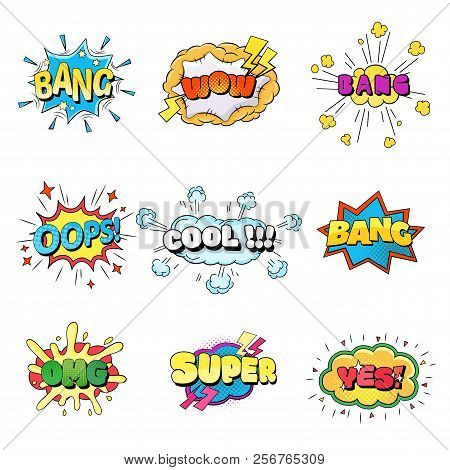 Set Of Speech Bubbles Comic