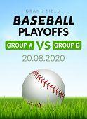 Baseball Flyer Poster Design Game Tournament. Vector Baseball Banner Sport Invitation Illustration. poster