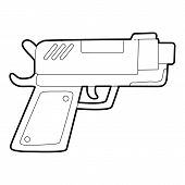 Gun Icon. Outline Illustration Of Gun Icon For Web poster