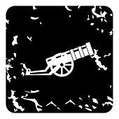 Medieval Military Throwing Gun Icon. Grunge Illustration Of Medieval Military Throwing Gun Icon For  poster
