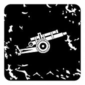 Military Gun Icon. Grunge Illustration Of Military Gun Icon For Web poster
