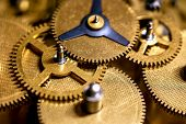 Macro Details Of Gearwheels From A Clockwork, Precision And Accuracy poster