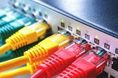 The Switch Of The Company Engaged In The Internet, The Switch Of The Provider In Which The Patch Cor poster