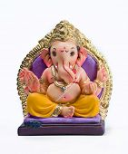 foto of ganapati  - A  statue of an Indian god - JPG