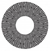 Cool b&w, vector circular pattern