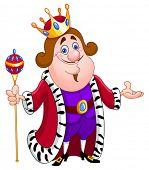 picture of clip-art staff  - Friendly king - JPG