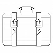 Trip Leather Bag Icon. Outline Illustration Of Trip Leather Bag Vector Icon For Web Design Isolated  poster