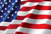 pic of american flags  - American flag - JPG