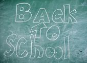 Back To School It Is Never Late To Study. Chalkboard With Inscription Back To School. Advertisement  poster
