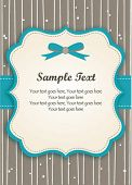 stock photo of bridal shower  - Romantic Blue Retro Card - JPG