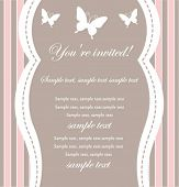 foto of newborn baby girl  - Baby girl shower invitation - JPG