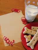 stock photo of christmas dog  - dog treats  - JPG