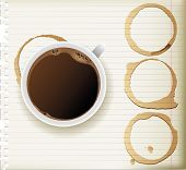 foto of coffee-cup  - coffee cup and coffee stains - JPG