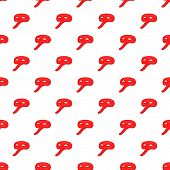 Red Carnival Mask Pattern. Cartoon Illustration Of Red Carnival Mask Pattern For Web poster