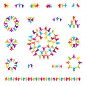 foto of people icon  - Various colorful set of icons  - JPG