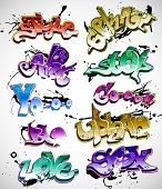 picture of rap  - Graffiti vector - JPG