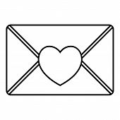 Nice Love Letter Icon. Outline Illustration Of Nice Love Letter Icon For Web poster
