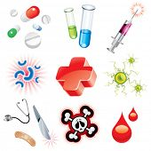 stock photo of scalpels  - Set of icons which contains medical items - JPG