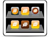 Chat Set of apps icons. Vector illustration doesn't contain transparency and other effects. EPS8 Onl