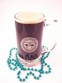 stock photo of claddagh  - A festive pint of a dark irish stout - JPG