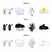 Isolated Object Of Weather And Weather Symbol. Collection Of Weather And Application Vector Icon For poster
