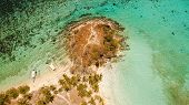Aerial View Of Tropical Beach On The Island Malcapuya, Palawan, Philippines. Beautiful Tropical Isla poster