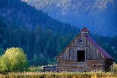 Mountain wilderness old barn vintage building weathered abandoned poster