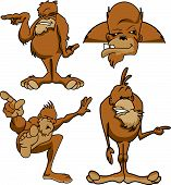stock photo of bigfoot  - Various poses of Bigfoot sasquatch mythical animal cartoon - JPG