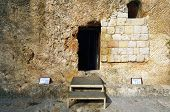 stock photo of burial  - Garden Tomb in Jerusalem - JPG