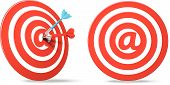 social media red darts target aim